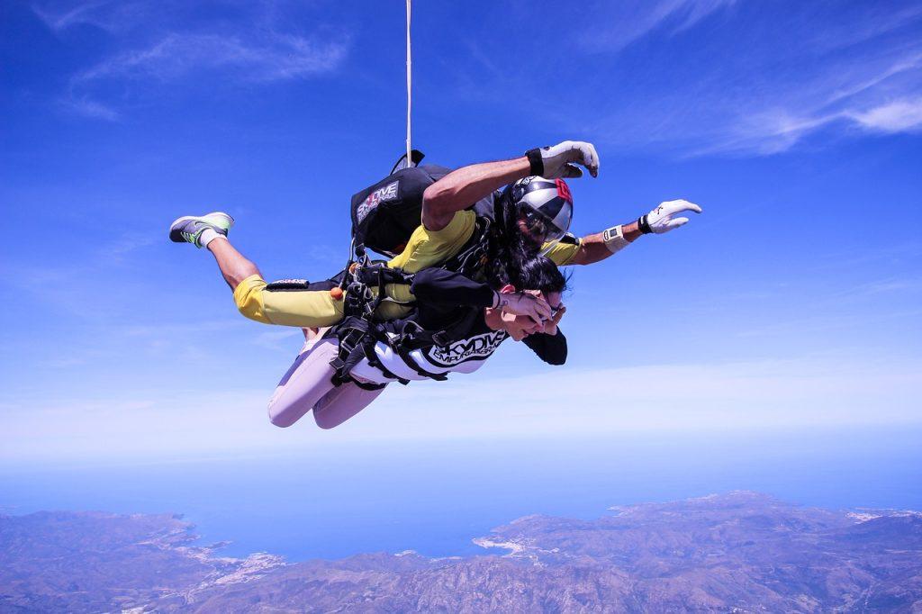 saut en parachute en vendee
