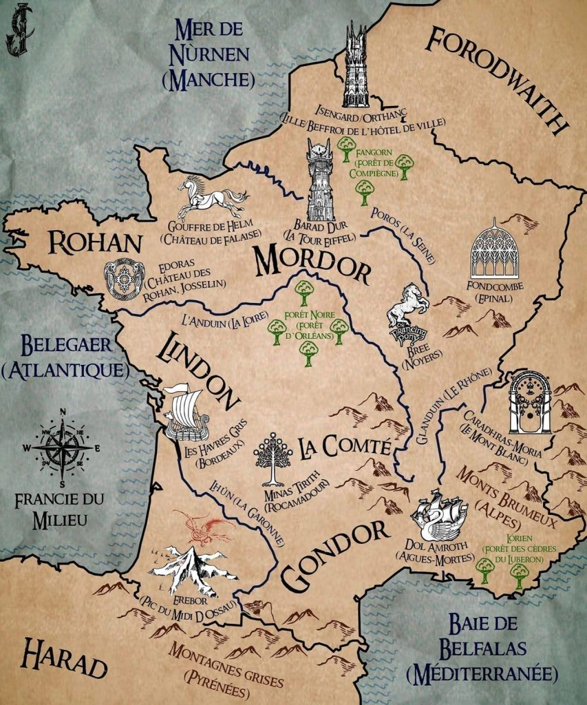 carte seigneur des anneaux france