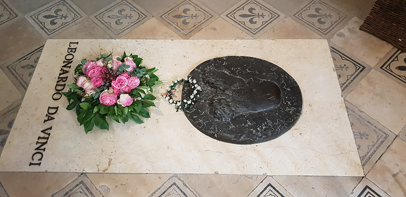 tombe leonoard de vinci chateau damboise
