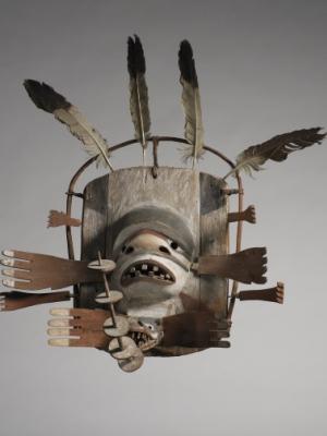 masque de chamane esprit lune