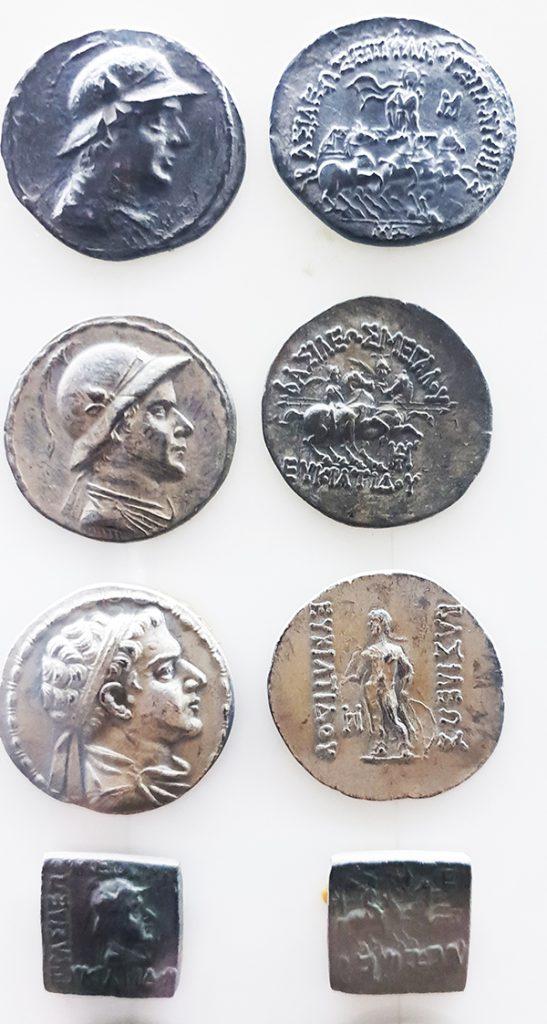 Pièces de monnaie des rois bactriens- grecques taxila