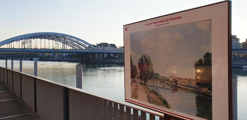 pont ferroviaire impressionniste pontoise pissaro