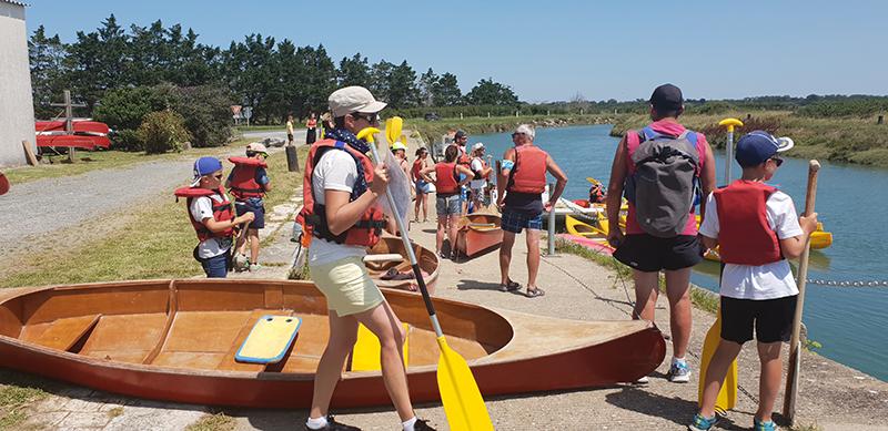 canoe marais ile d'oléron
