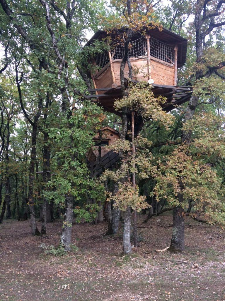 dormir cabane arbre drome